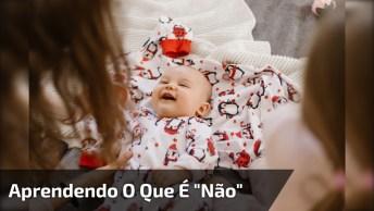 Bebê Aprendendo O Que É Um 'Não' - Compartilhe No Facebook!