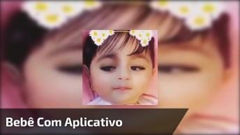 Bebê Com Aplicativo De Celular Que Modifica O Rosto, Os Olhos Ficaram Negros!