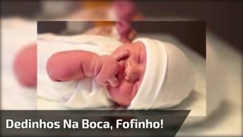 Bebê Com Dedinhos Na Boca, Esse Vai Ser Difícil De Largar Dessa Mania!