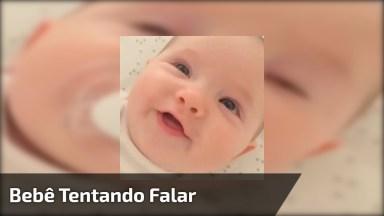 Bebê Com Rostinho Adorável E Tentando Falar, Que Ser Mais Fofinho!