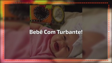 Bebê Com Turbante, Que Coisa Mais Fofinha Gente, Confira!