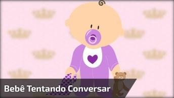 Bebê Conversando Com A Sua Mãe, Veja Que Cena Mais Linda!