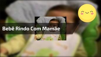 Bebê Dando Risada Com Espirro Da Mamãe, Olha Só Que Coisa Mais Fofa!