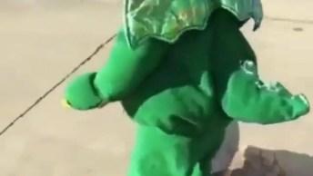 Bebê Dinossauro Andando De Skate, Olha Só Que Coisinha Mais Fofa!