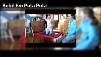 Bebê Divertindo Em Pula Pula, Muita Fofura Para Um Vídeo Só!