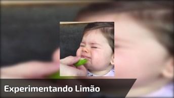 Bebê Experimentando Limão, A Carinha Dela É A Melhor Parte!