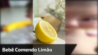 Bebê Experimentando Limão Pela Primeira, Olha Só Que Careta Mais Linda!