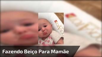 Bebê Faz Beicinho Quando A Mamãe Fala 'Ohohoh', Que Fofrura!