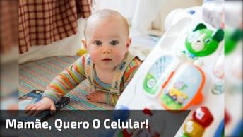 Bebê Faz Birra Para Falar No Celular, Tecnologia Tomando Conta De Tudo Kkk!