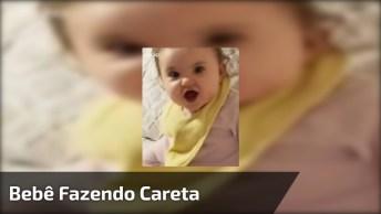 Bebê Fazendo Cara Engraçada Na Hora Do Papa, Que Fofura!
