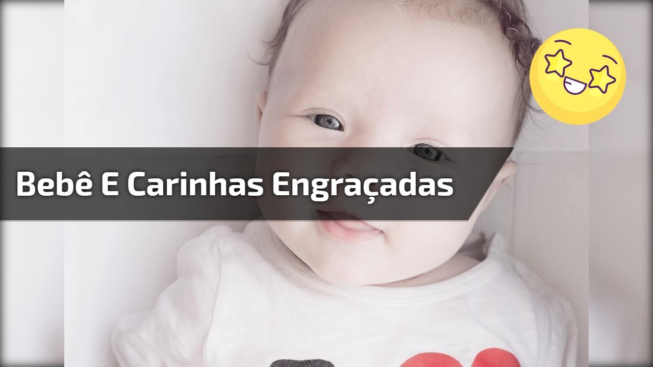 Bebê e carinhas engraçadas