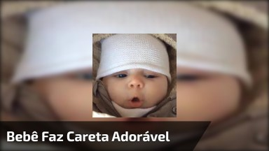 Bebê Fazendo Uma Carinha Adorável, Veja E Depois Repasse No Facebook!