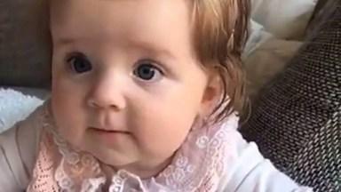 Bebê Fofa Para Compartilhar No Facebook, Impossível Não Amar Essa Fofura!