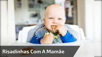 Bebê Linda Dando Risadinhas Com A Mamãe, Olha Só Que Gostosura!