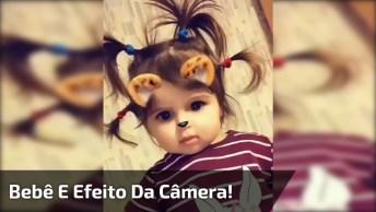 Bebê Linda Se Divertindo Com Efeito Da Câmera Do Celular, Que Fofinha!