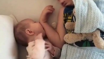 Bebê Mamando No Braço Do Irmão, Veja O Desespero Dele Tadinho!