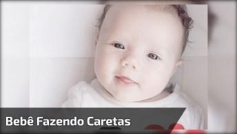 Bebê Tentando Falar E Fazendo Caretas, Que Coisa Mais Linda E Fofa!