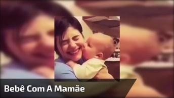 Bebê Tentando Mamar No Rosto Da Mamãe, Ele Deve Estar Com Fome!