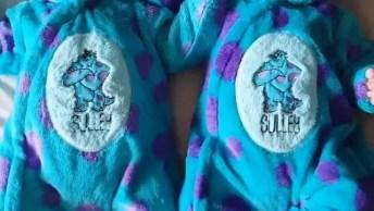 Bebês Com Roupinha Do Desenho 'Monstros S. A. ', Olha Só Que Fofura!