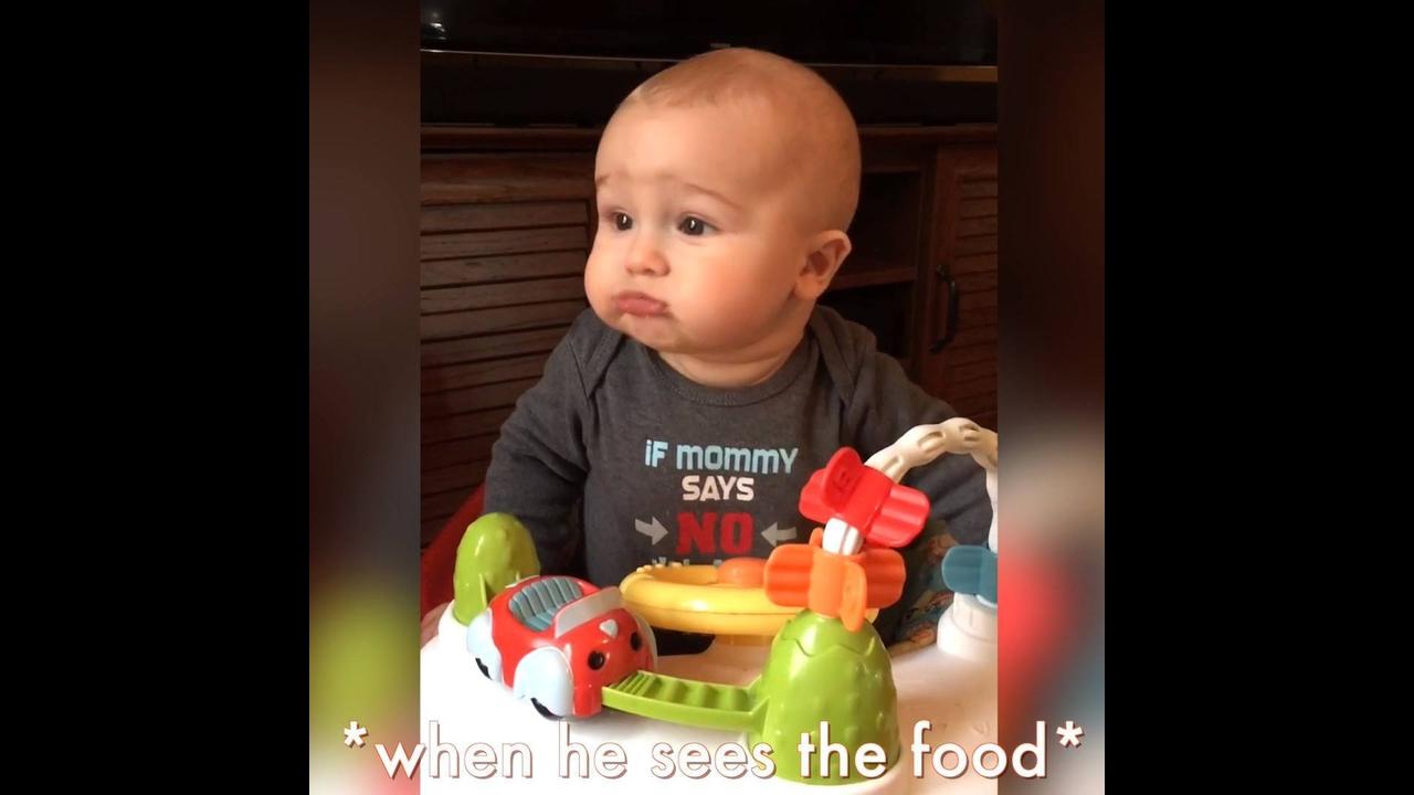 Bebês e comidas, veja o que eles são capazes de fazer hahaha
