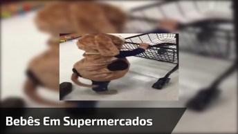 Bebês Em Supermercados - Veja O Que Eles Aprontam Hahaha!