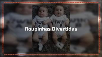Bebês Gêmeos Com Roupinhas Divertidas, Mais Um Vídeo De Bebê Super Fofo!