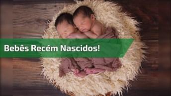 Bebês Recém Nascidos Gêmeos, Que Rostinhos Mais Doces, Confira!
