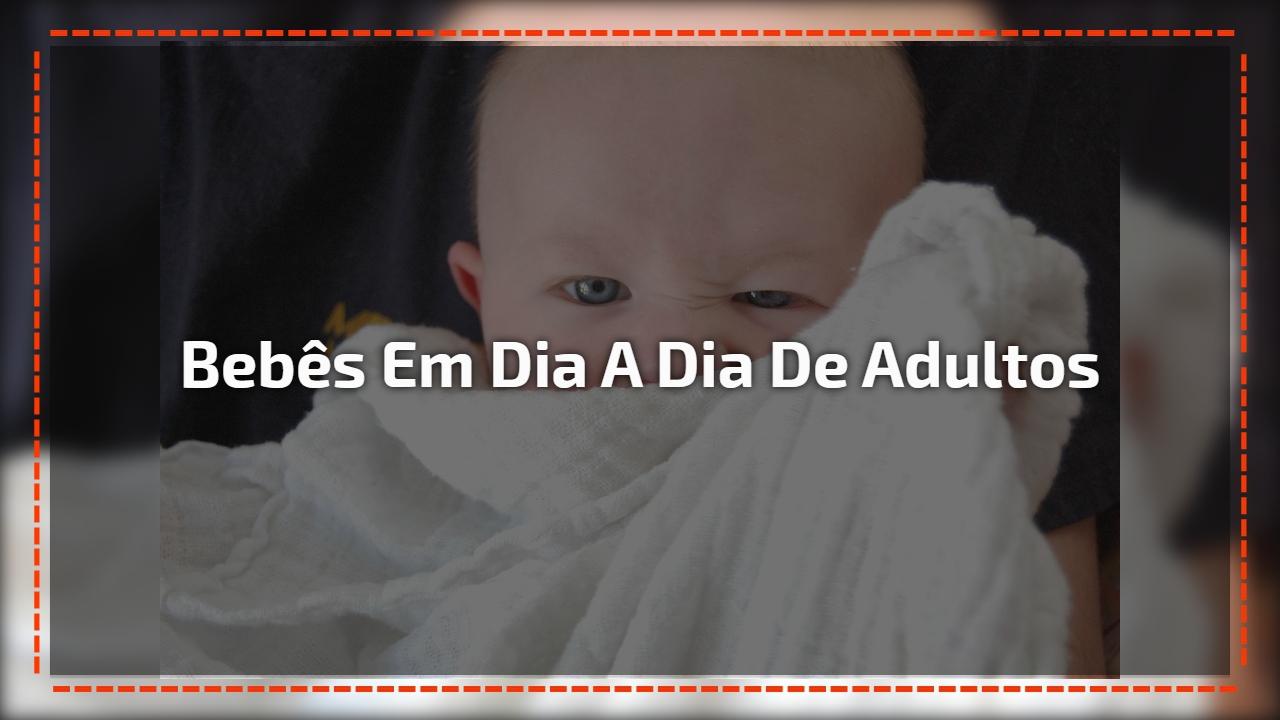 Bebês em dia a dia de adultos