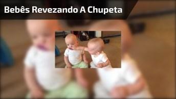 Bebês Revezando A Chupeta, Cada Hora É Um Que Chora Hahaha!