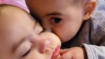 Bebês Tendo Momento De Muito Carinho E Amor, Olha Que Gracinha!