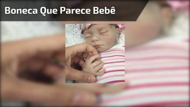 Boneca Que Se Parece Com Bebê De Verdade, Para Quem Ama Bonecas!