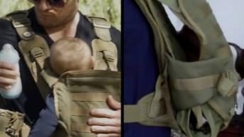 Canguru Para Carregar Bebê - Agora Os Papais Vão Passear Com Eles!