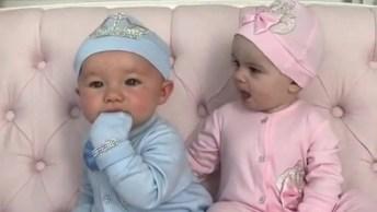Casal De Bebês Gêmeos, Dois Seres Lindos E Fofos, Confira!