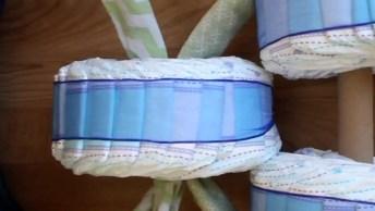 Como Fazer Um Triciclo Com Fralda Descartável Para Enfeitar Seu Chá De Bebê!