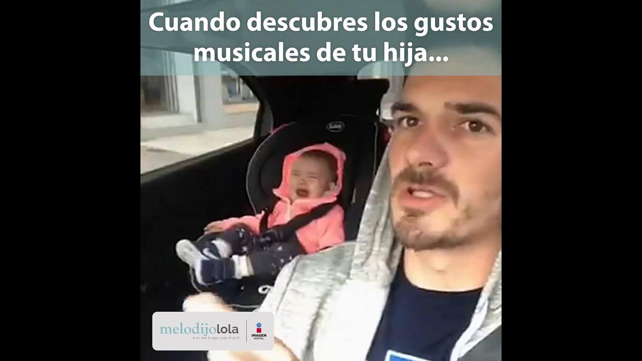 Descobrindo o gosto musical da filha bebê