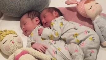 Dupla De Bebês Mais Linda Do Dia, Você Vai Se Apaixonar Por Esses Sorrisinhos!