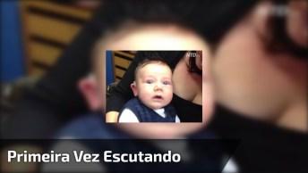 Esse Vídeo É Emocionante Bebê Esculta Pela Primeira Vez, Olha A Reação Dele!