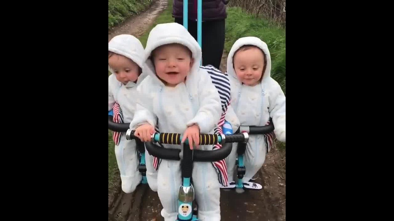 Fofura em dose Tripla, que lindo esses 3 bebês