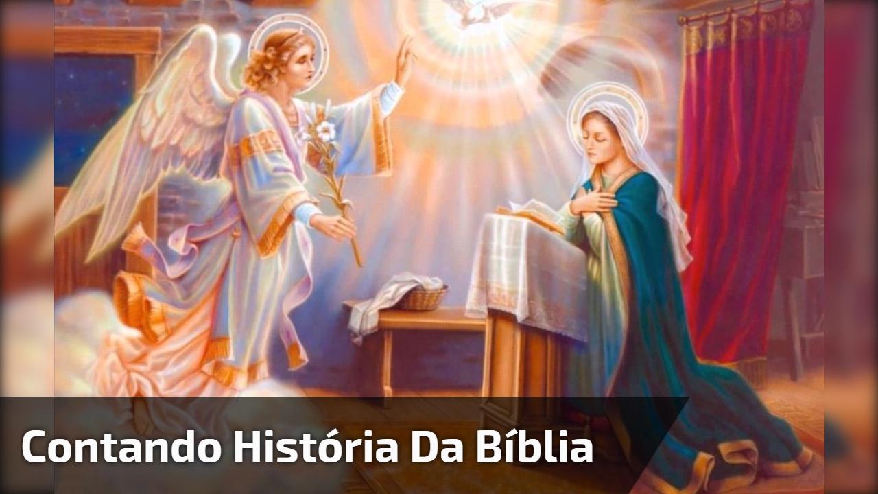 Contando história da bíblia