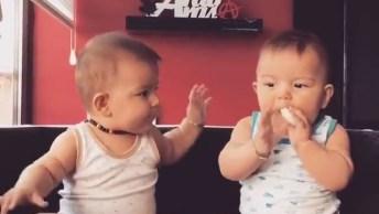 Gêmeos Lindinhos Brincando Juntos, Essa Amizade Vai Longe!