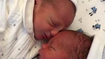 Gêmeos Recém Nascidos, O Milagre Da Vida Em Dose Dupla, Lindos!