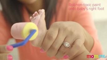Marcando Os Pezinhos Da Bebê, Ficou Lindo O Resultado, Confira!