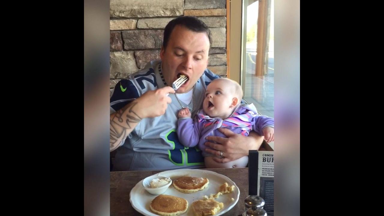 Momentos entre bebês e seus papais