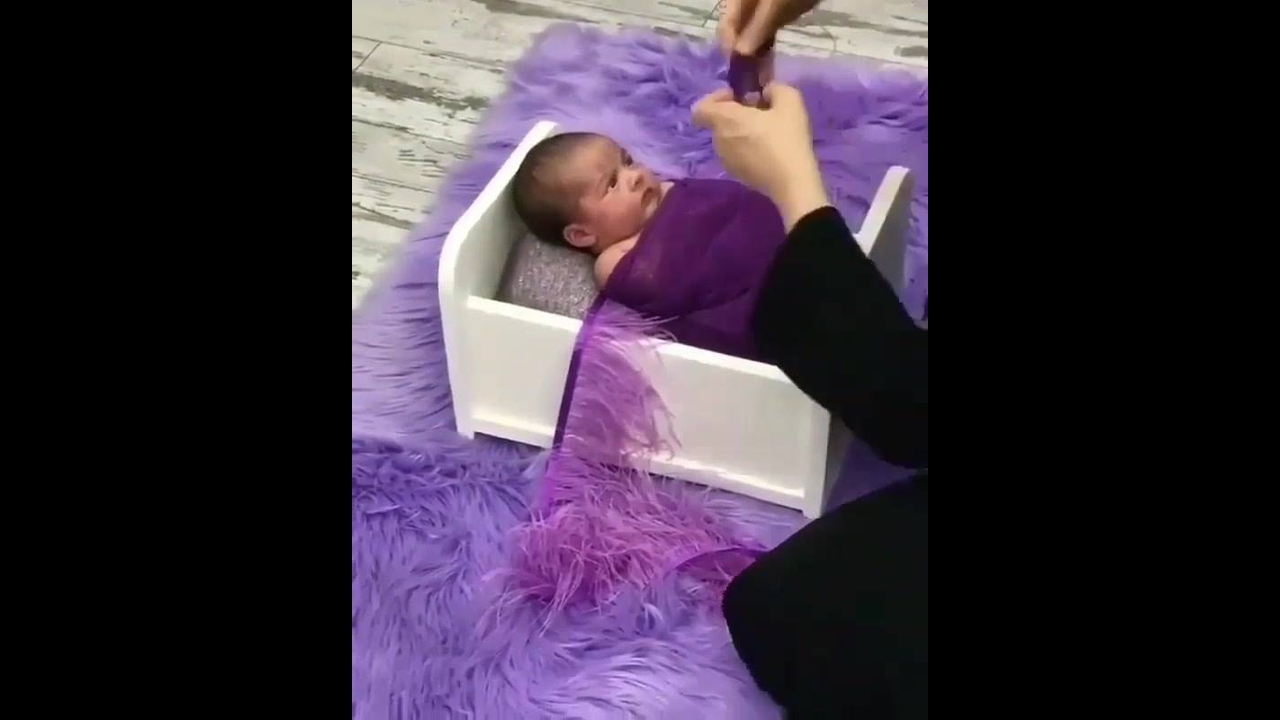 Preparação de fotos de uma bebê