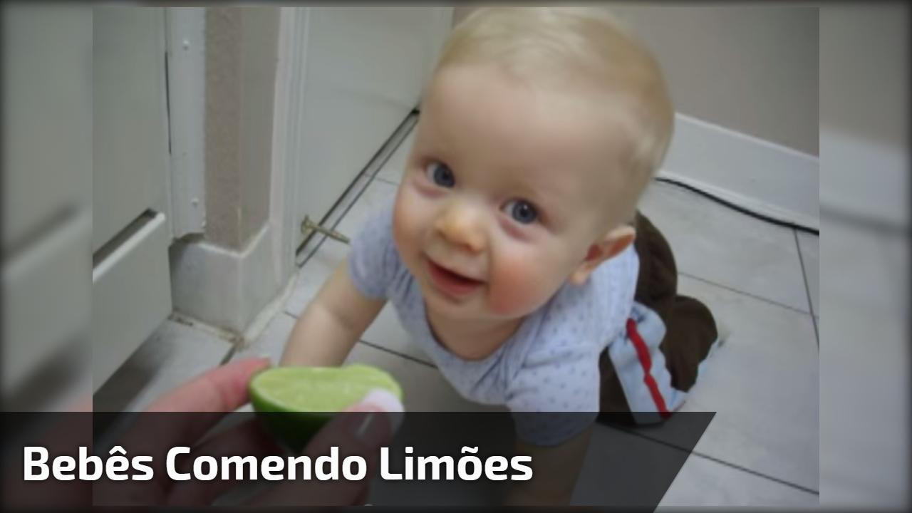 Bebês comendo limões