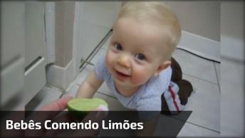 Reação De Bebê Experimentando Limão, Olha Só A Careta Dele!