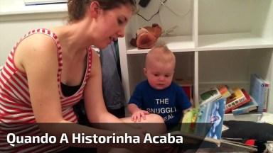 Veja O Que Acontece Quando A Historinha Acaba Para Este Bebê!