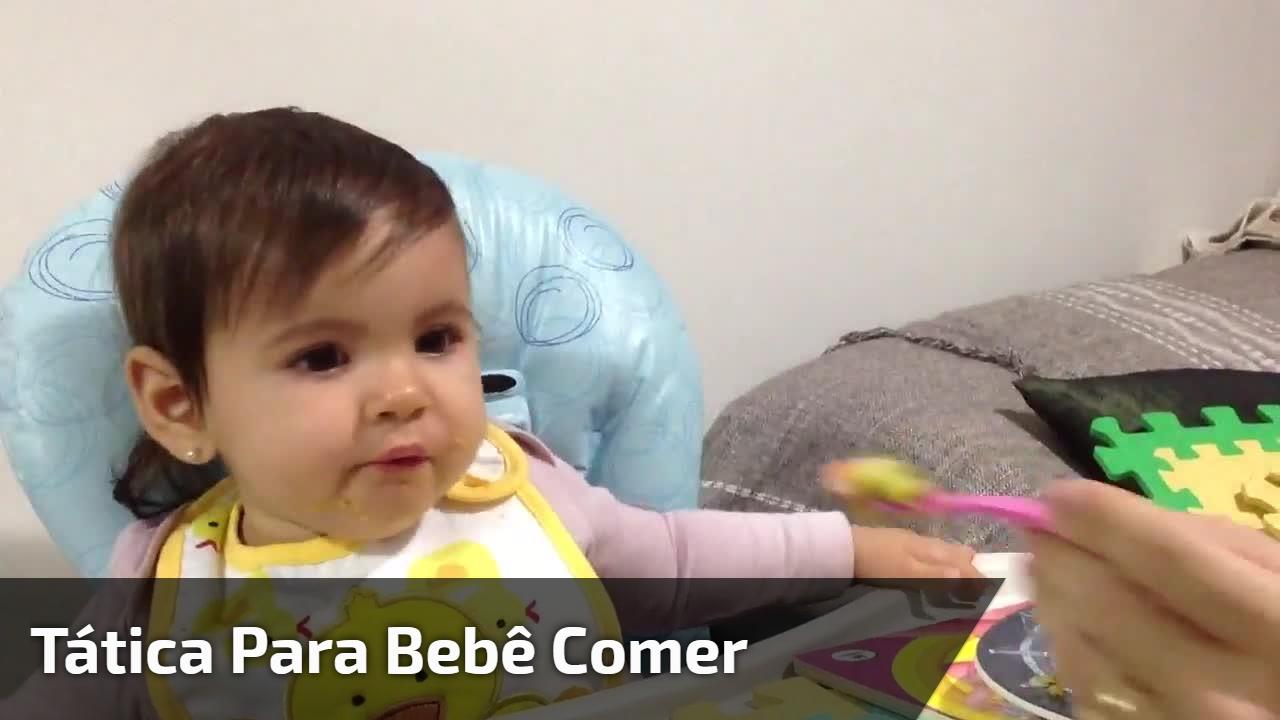Tática para bebê comer