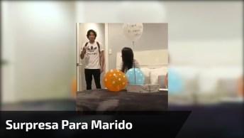 Vídeo Com Surpresa Para Marido, Veja A Reação Dele Ao Descobrir Que Vai Ser Pai!