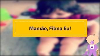 Vídeo De Bebê Linda Fazendo Gracinhas Para Mamãe Filmar, Como É Fofa!